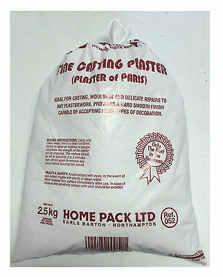 Plaster Of Paris 2.5KG Fine Casting Plaster For Moulding /& Delicate Repairs DIY