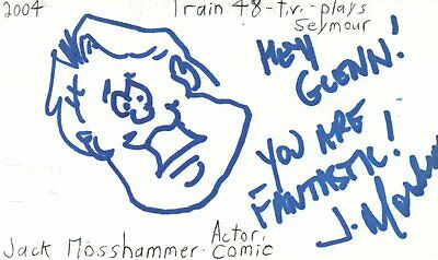Apprehensive Jack Moshammer Actor Comedian Train 48 Tv Show Autographed Signed Index Card Cards & Papers