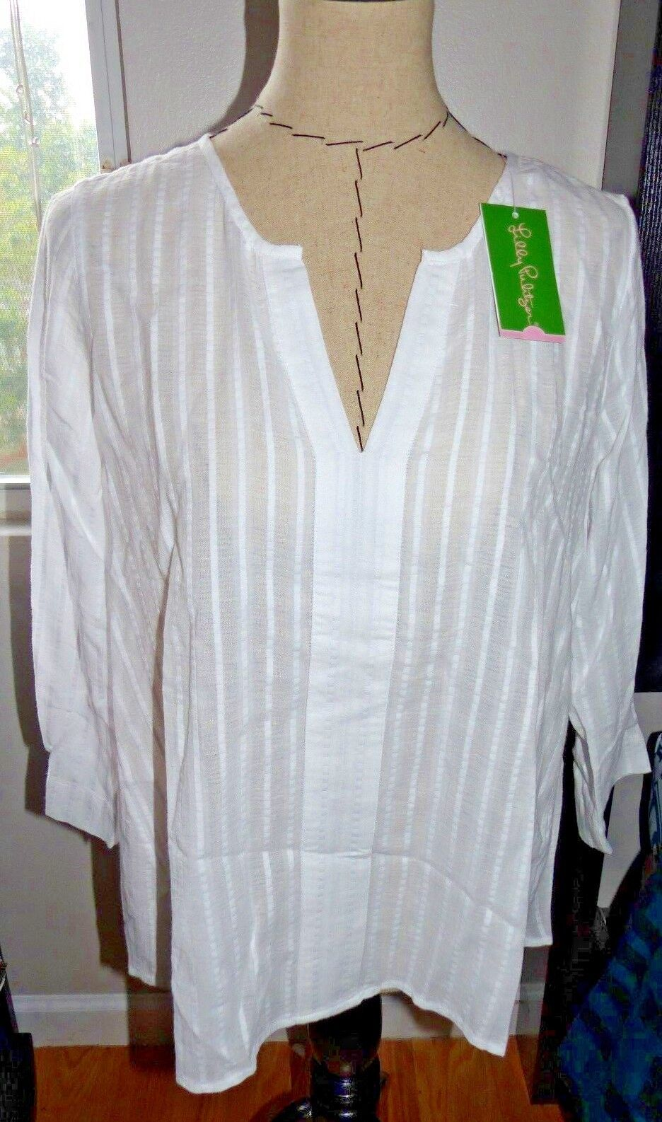 LILLY PULITZER  Ladies  Nalani Tunic Top   RESORT Weiß   Sz SMALL   NWT