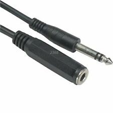 "6ft 1/4"" Stereo Male~Female Extension Audio/Headphone​/Mic/PA Cable/Cord 6.35mm"