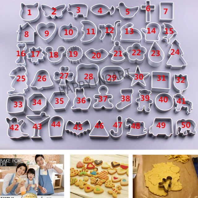 DIY Baking Tool Metallic Sugar Cake Biscuit Cookie Cutter Decoration Mould Mold