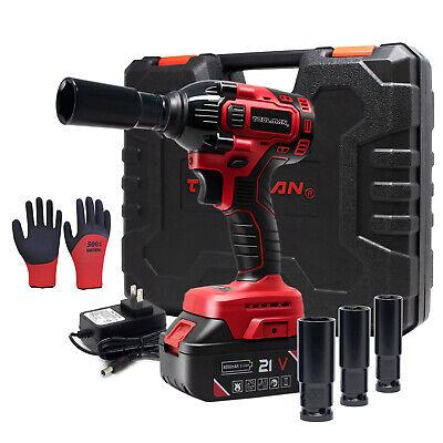 21V 310NM 13800mAh Battery 1//2/'/' Drive Cordless Electric Impact Wrench Tool Kit