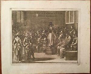"""Kupferstich von London """"COACRES ET COACHRESSE"""", 17. Jahrhundert"""
