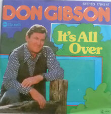 "7"" 1976 COUNTRY ! DON GIBSON : it´s All Over /MINT-?"