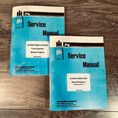 INTERNATIONAL D-282 DIESEL ENGINE SERVICE MANUAL for 560 656 660 706 TRACTORS