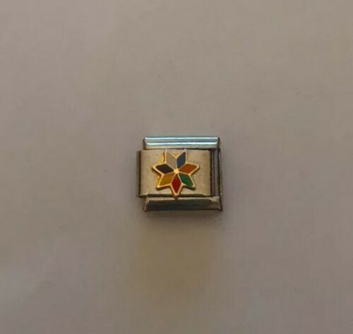 Multicoloured Star Italian Charm 9mm Classic Size