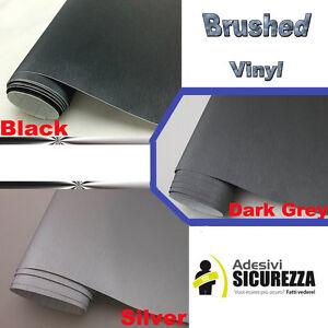 Pellicola vinile alluminio spazzolato no bolle in 3 colori Wrapping real effect