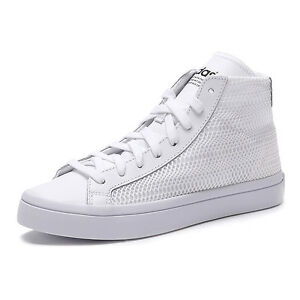 Image is loading Womens-adidas-Originals-Court-Vantage-Mid-Trainers-White- 9761d2201dbb