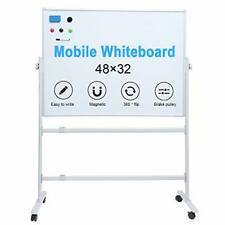 Whiteboard With Stand Magnetic Dry Erase Board Rolling On Wheels Large Size