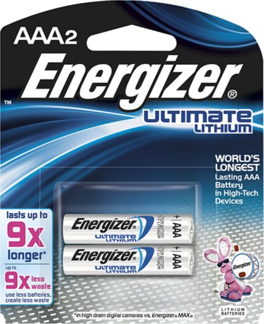Energizer e2 Lithium Batteries AAA 2, 2 ea (Pack of 2)