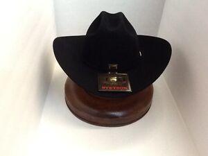 Stetson Cowboy Hat 100X Beaver Black Fur EL PRESIDENTE 4 5 8