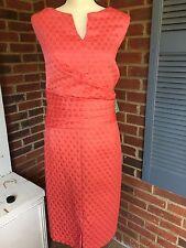 NWT Women's 22W Plus Size Coral Textured Jones Wear Dress Faux Wrap Front Pretty