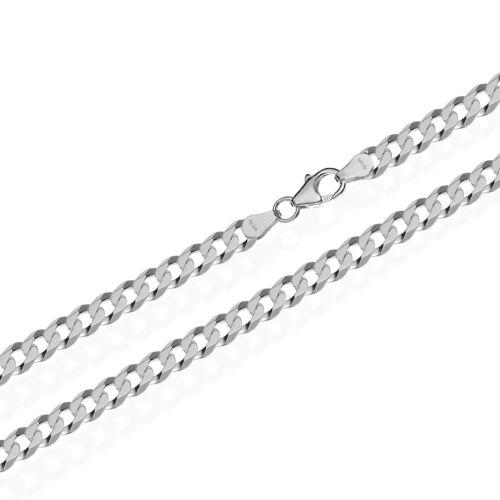 6,00mm de ancho verdadera 925er Sterling plata tanques cadena 6x diamantado cadena de plata