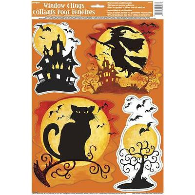 Halloween Party Spooky Hollow Window Cling Decoration