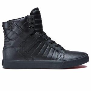 Supra-Men-039-s-Skytop-Hi-Top-Sneaker-Shoes-Black-Black-red-Footwear-Casual-Skate-Go