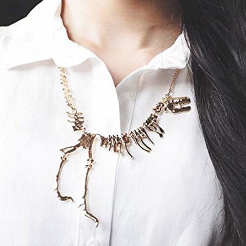 Encantador Collar de Mujer Dama Dinosaurio Juegos con disfraces Disfraz Elaborado Vestido Joyería N7