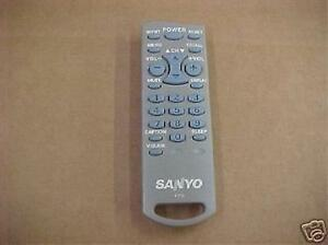 Details about Sanyo FXTG TV Remote Control New Never Used (P#:AHC8 001)