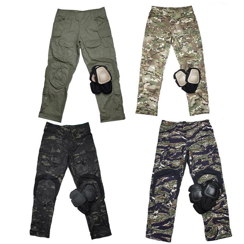 TMC2901 Hombre Militar Táctico G3 Combate Cargo Pantalones De Entrenamiento Con Rodilleras