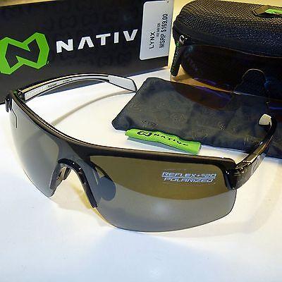 2019 Nuovo Stile Native Lynx Polarizzati Sunglasses-smoke / N3 Argento Reflex & Sportflex Lenti