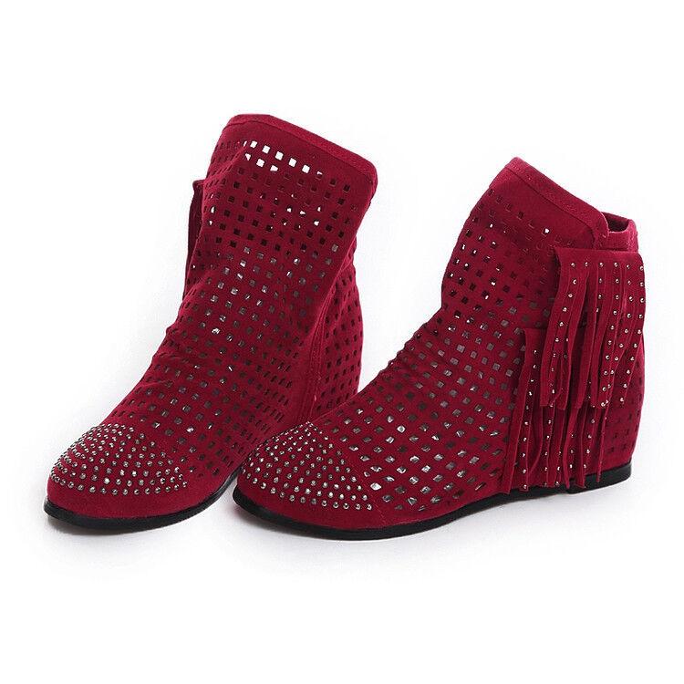 botas bajo zapatos suela cm rojo cómodo cómodo como piel 9791