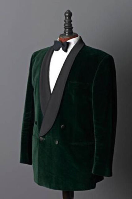 1afd1594040d Men Green Blazer Coat Elegant Luxury Stylish Designer Velvet evening Party  Wear