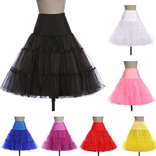 Retro Petticoat Swing Unterrock 50er Pettiskirt Tutu Rock Pinup Skirt