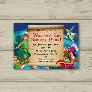 Peter pan tinkerbell captain hook personalised birthday party image is loading peter pan tinkerbell captain hook personalised birthday party solutioingenieria Choice Image