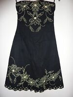 Jane Norman black strapless party dress Size 8
