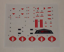 GI Joe Cobra FANG F.A.N.G. A Fully Armed Negator Gyrocopter Sticker Decal Sheet