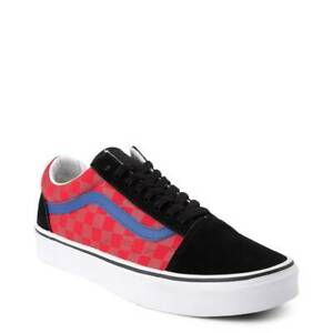 huge discount dc152 7b4dc Details zu Vans Old Skool OTW Rally Chex Skate Shoe Red Black Yellow Blue  Womens
