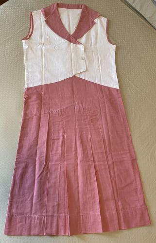 1920s VINTAGE LINEN FLAPPER ERA DRESS