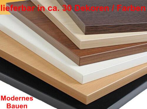 Ral 9003 Größe bis 1,5 m² mit ABS-Kante 25 mm Holzplatte beschichtet weiß
