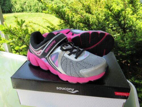 7a44566e0a7a 11 of 12 KIDS Saucony Kotaro 3 Girls Pink Gray Metallic Leather Mesh  Athletic Shoes sz 4