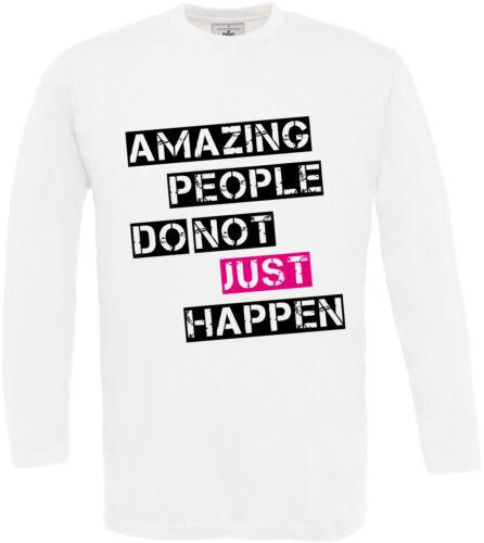 Señores camuflaje Amazing people manga larga camisa t-shirt Print hechizo Designer Shir