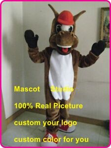 Horse-Mascot-Costume-Cosplay-Party-Chic-Dress-Outfit-Advertising-Halloween-Adult