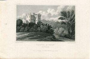 Escocia-Castle-Huntly-Perthshire-Engraving-By-H-Adlard-IN-1831