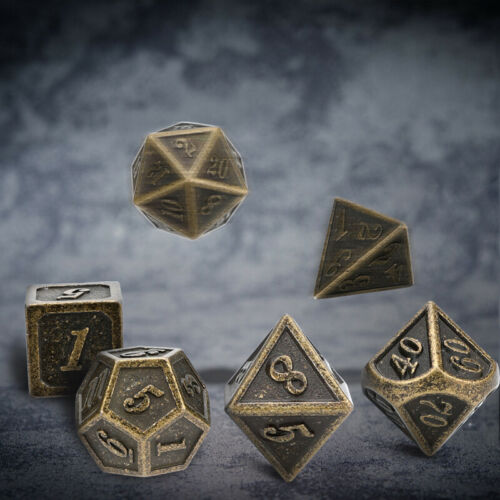 D6 D8 7X Metal Polyhedral Dice DND RPG MTG Role Playing Game D4 D10*2,D12,D20