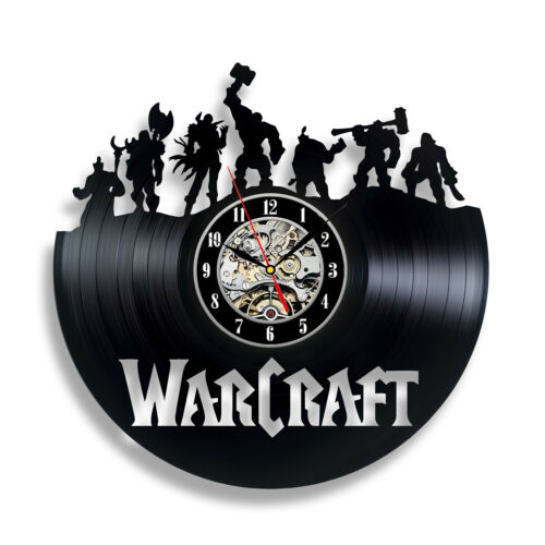 Warcraft Vintage Handmade Decor Vinyl Record Clock Wall Art Room Office