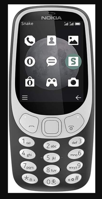 New Unlocked Nokia 3310 3G TA-1036 GSM Bar GSM Cell Phone, Charcoal, Sealed