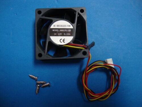 60mm 25mm New Case Fan 12V DC Waterproof 27CFM 3pin Ball Brgs 4 Screws