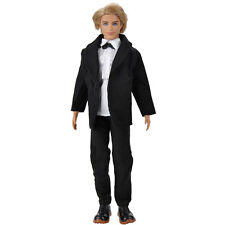 Fashion Handmade Formal Bussiness Suit Black Coat Tuxedo Clothes For Ken Doll