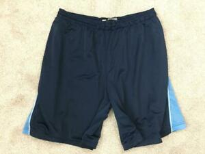 Starter-mens-shorts-size-2XL-44-46-athletic-blue-elastic-waist-with-ties