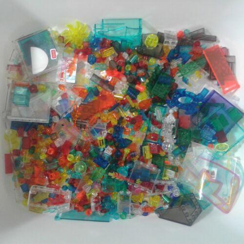 LEGO 4oz 1//4 lb Bulk Lot Translucent//Transparent Parts /& Pieces Various Colors