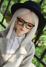 "1/3 8-9"" Bjd Wig Dal Pullip BJD SD LUTS MSD DOD DD Dollfie Short white Doll wig"