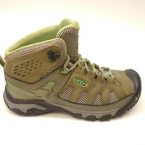 84077f0c661 Keen Womens Targhee III Mid Brown Mint Leather Hiking Trail Boots US ...