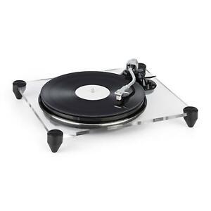 OCCASION-Platine-vinyle-tourne-disque-Lecteur-33-1-3-45t-mn-amp-preampli-Verre