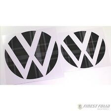 Emblem Ecken Jacky Stoffmuster vorne+hinten VW Golf 7 VII GTI GTD R Turbo Logo