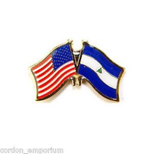 CUBA CUBAN INTERNATIONAL COUNTRY USA COMBO FLAG LAPEL PIN BADGE 1 INCH