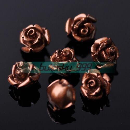 20pcs 10 Mm Fleur Rose ample Résine Perles Lot À faire soi-même Jewelry Making Findings 34 Couleurs
