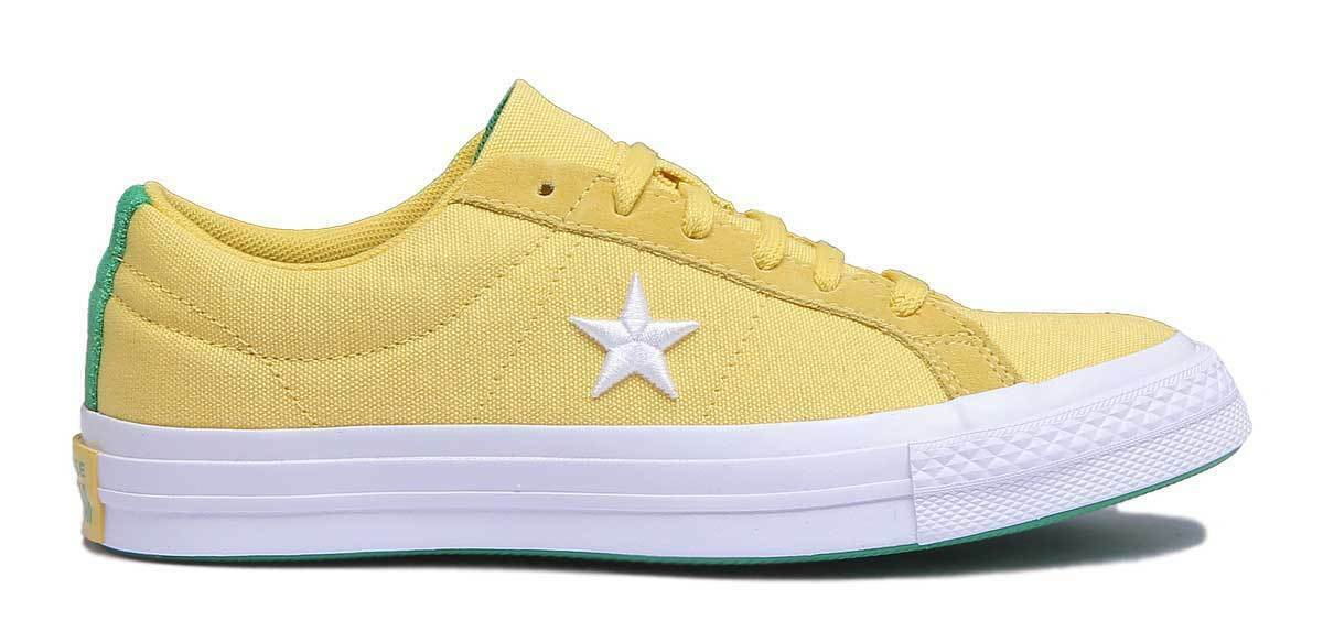 Converse One Star Canvas Country Pride Damens Canvas Yellow - Trainer UK Größe 3 - Yellow 8 a16984